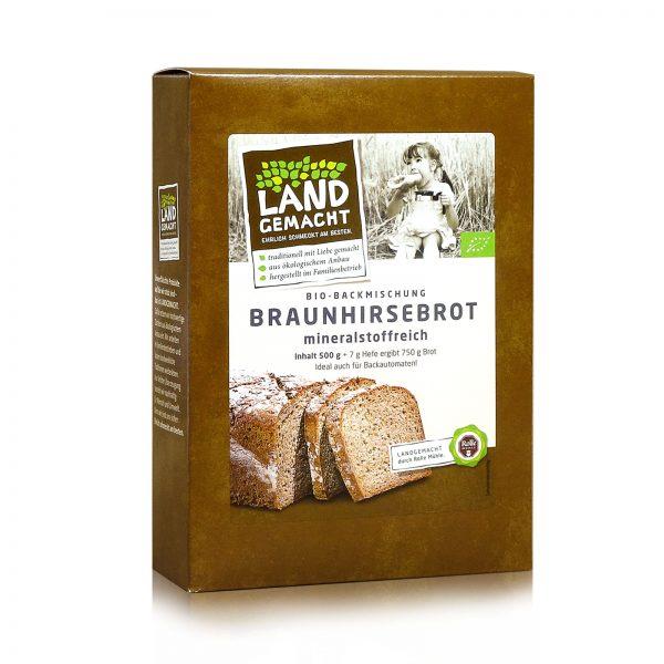 """""""Landgemacht"""" Bio Braunhirsebrot 500g"""
