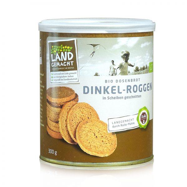 """""""Landgemacht"""" Bio Dinkel-Roggen Dosenbrot 300g"""