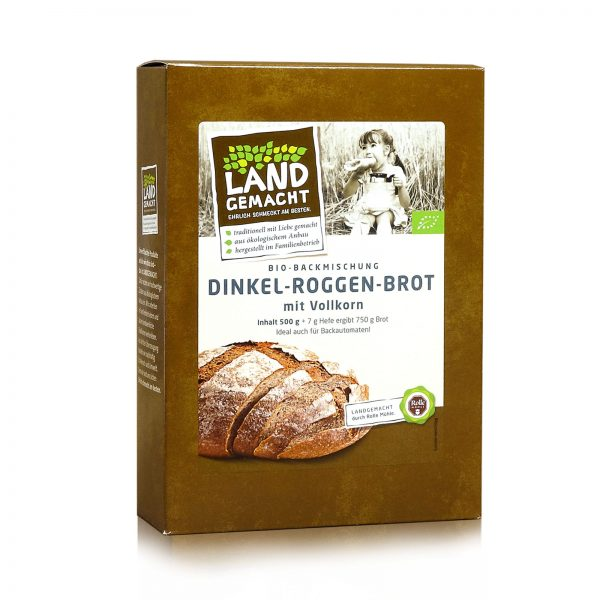"""""""Landgemacht"""" Bio Dinkel-Roggenbrot 500g"""
