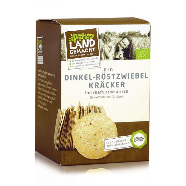 """""""Landgemacht"""" Bio Dinkel-Röstzwiebel-Kräcker 100g"""
