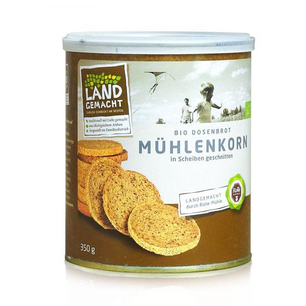 """""""Landgemacht"""" Bio Mühlenkorn-Dosenbrot 350g"""