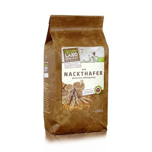"""""""Landgemacht"""" Bio Nackthafer ganz 1kg"""