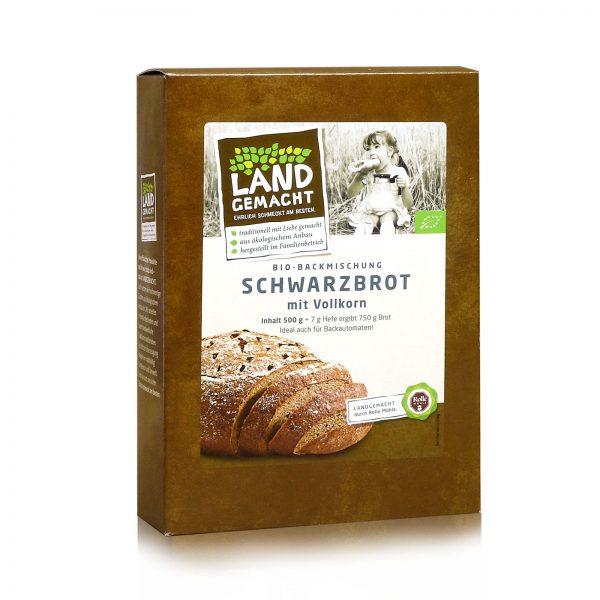 """""""Landgemacht"""" Bio Vollkorn-Schwarzbrot 500g"""