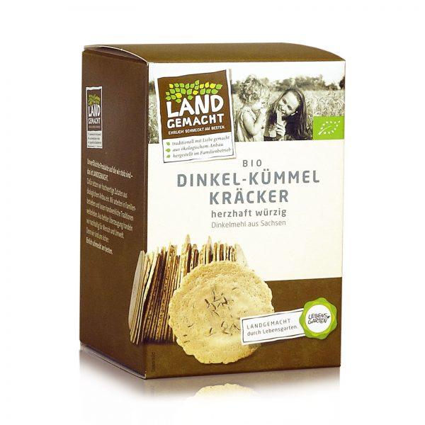 """Landgemacht"" Bio Dinkel-Kümmel-Kräcker 100g"