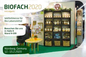 BioFach 2020 Stand Rolle Muehle Einladung